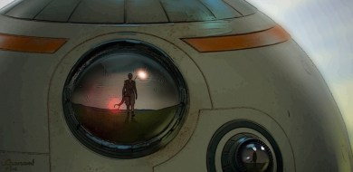 At the story's conclusion, BB-8 sees Rey arrive on the planet Modesta in STAR WARS: DUEL OF THE FATES