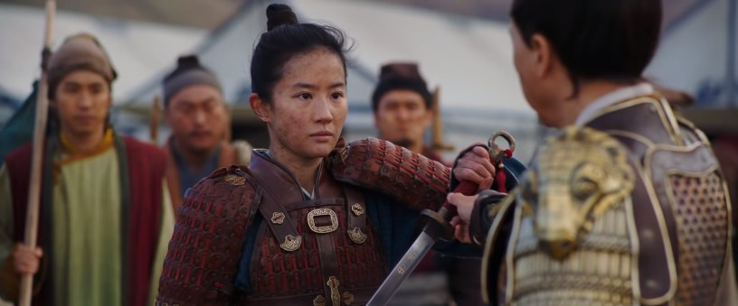 Chinese-American actress Yifei Liu stars as the woman warrior in disguise, in Disney's live-action remake of MULAN (2020)
