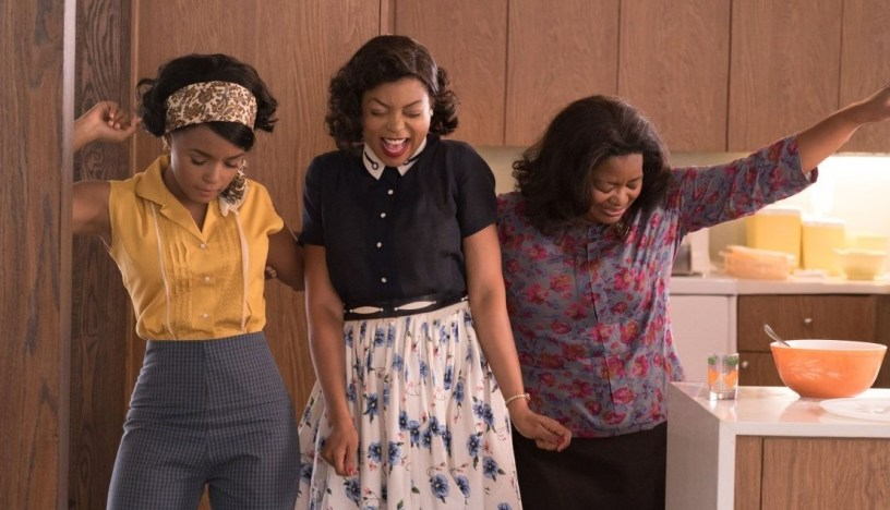 Mary Jackson (Janelle Monae), Katherine Johnson (Taraji P. Henson) and Dorothy Vaughn (Octavia Spencer) celebrate their stunning achievements for NASA'S Apollo program, in HIDDEN FIGURES (2016)
