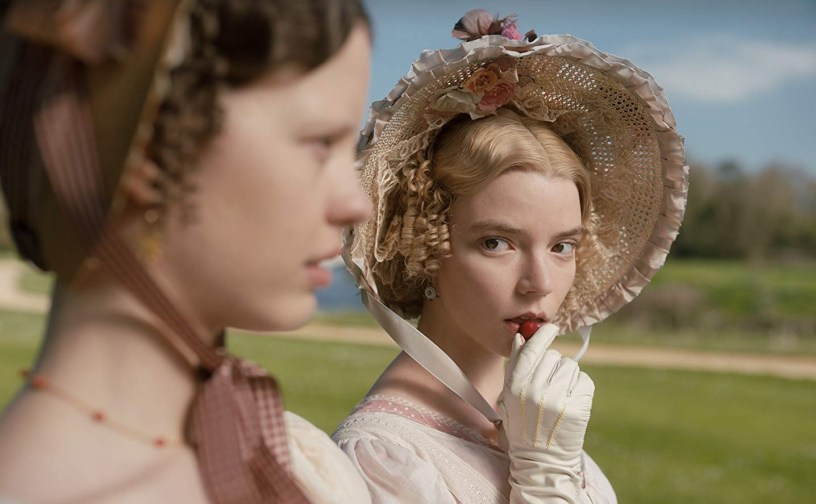 Mia Goth (Harriet) and Anya Taylor-Joy (Emma) star in the latest adaptation of Jane Austen's EMMA (2020)