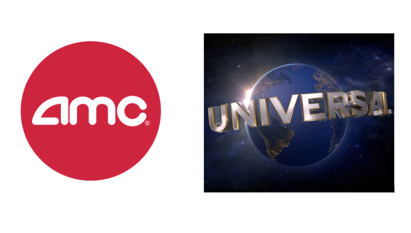 Logos for AMC Theatres and Universal Studios