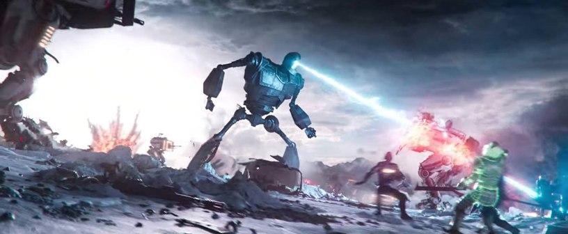 The Iron Giant is part of an epic battle Mark Rylance co-stars as OASIS creator James Halliday in Steven Spielberg's adaptation of READY PLAYER ONE (2018)