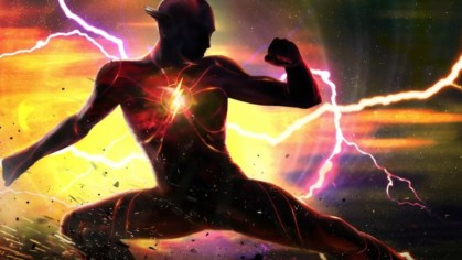 Concept Art of The Flash's new, sleeker electric suit from the forthcoming DCEU adventure THE FLASH (2022)