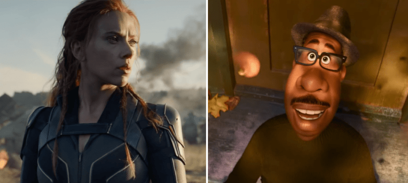 BLACK WIDOW and SOUL, two big upcoming releases from Disney-owned studios Marvel and Pixar, may get bumped from their 2020 perch.
