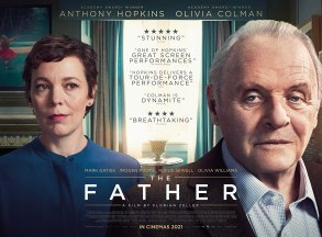 Olivia Colman and Anthony Hopkins star as a daughter and father in the story of a man battling dementia, in THE FATHER (2020)