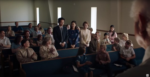 Steven Yeun, Yeri Han, and Yuh-Jung Youn star as Korean immigrants to Arkansas in the Korean-American family drama MINARI (2020)