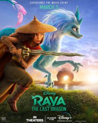 Official Movie Poster for Walt Disney Animation's RAYA AND THE LAST DRAGON (2021)