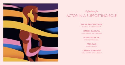2021 Best Supporting Actor Nominees - Petra Eriksson design