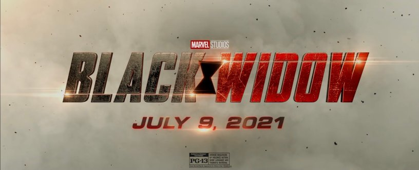 BLACK WIDOW Logo Title and Date