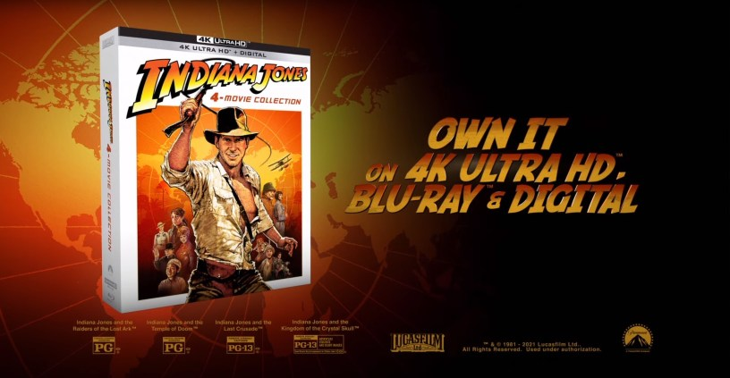 The Indiana Jones 4K 4-Movie Collection will be released on June 8, 2021.