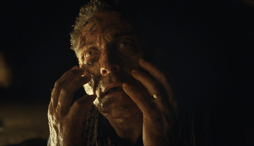 Rufus Sewell as Charles in OLD (2021), written for the screen and directed by M. Night Shyamalan.