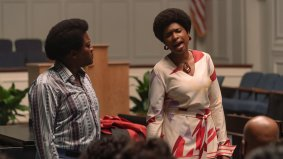 Tituss Burrgess and Jennifer Hudson co-star in the Aretha Franklin biopic RESPECT (2021)
