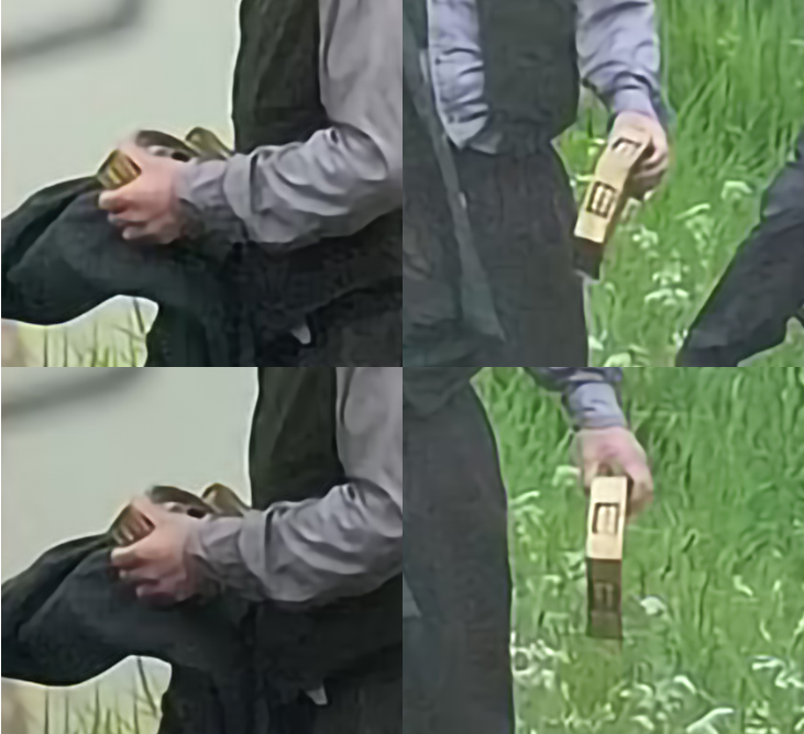 Close-up images of a prop, held by actor Toby Jones, that could be an important artifact in the story for INDIANA JONES 5 (2022)