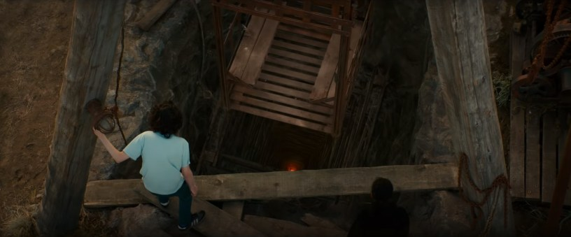 Trevor (Finn Wolfhard) discovers an abandoned oil well in the franchise reboot GHOSTBUSTERS: AFTERLIFE (2021)