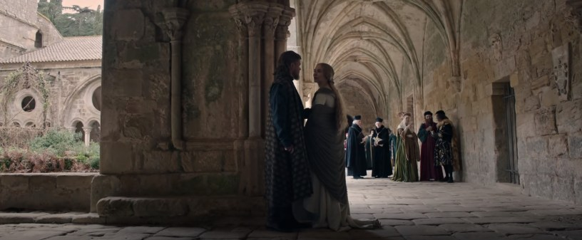 Matt Damon and Jodie Comer co-star in Ridley Scott's medieval French epic THE LAST DUEL (2021)