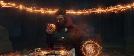 Doctor Strange conjures a spell to change space and time in SPIDER-MAN: NO WAY HOME (2021)