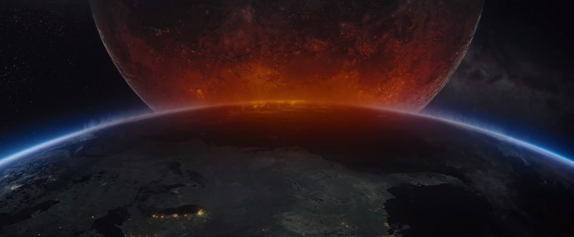The Moon hovers over the Earth Roland Emmerich's sci-fi disaster flick MOONFALL (2022)