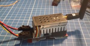 Transmitter as mounted.