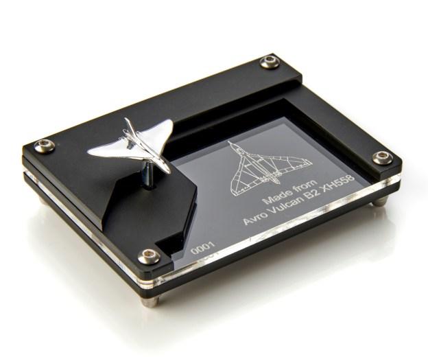Avro Vulcan XH558 Mini Model in reclaimed aluminium