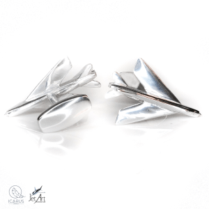 English Electric Lightning XR749 Cufflinks made from reclaimed aluminium
