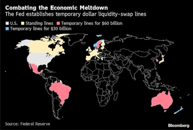 Fed Swap Locations - Bloomberg Global Map