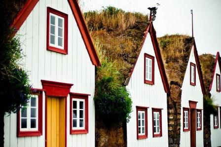 Casas de césped