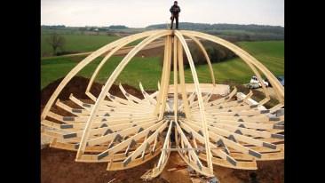 estructura domo madera