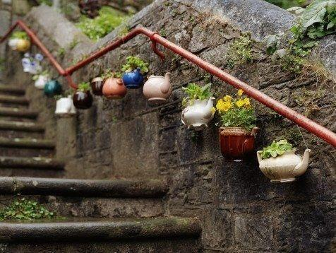 Reciclar cafeteras de porcelana