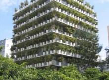 jardines verticales: flower tower en Paría, Francia.