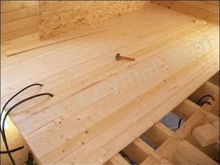 Casas entramado madera. El entrepiso