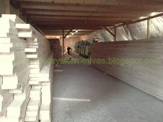 Listones para fabricar madera laminada