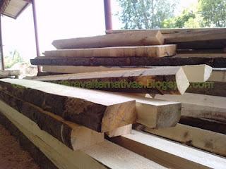 Casas de troncos de madera