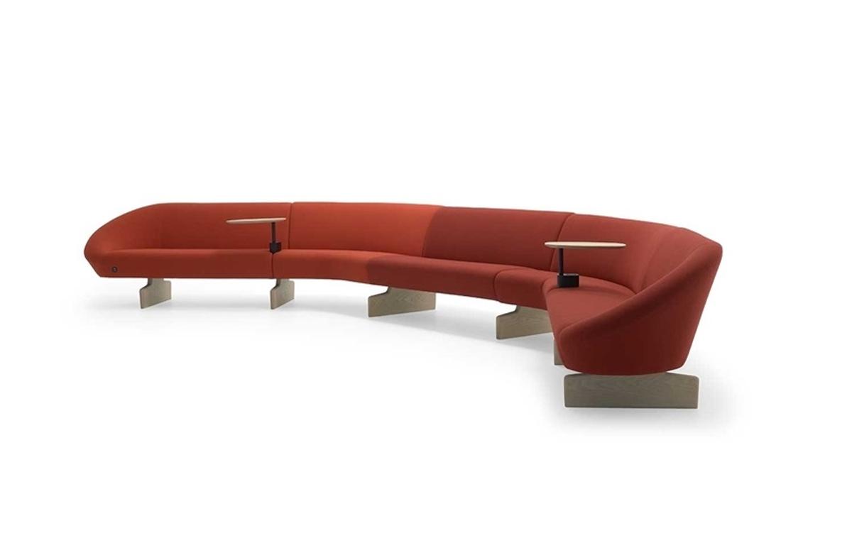 Sistema modular Giro Soft, diseño de Alfredo Häberli para Andreu World en Icaza Bilbao