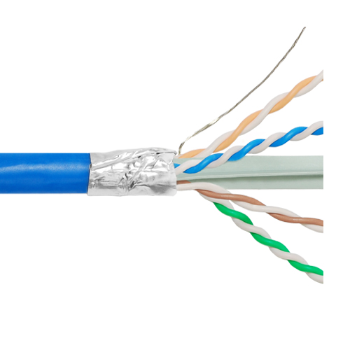 ICC 650Mhz CAT6A Bulk Cable with FTP and CMP Blue Copper Premise Cable ICCABP6FBL