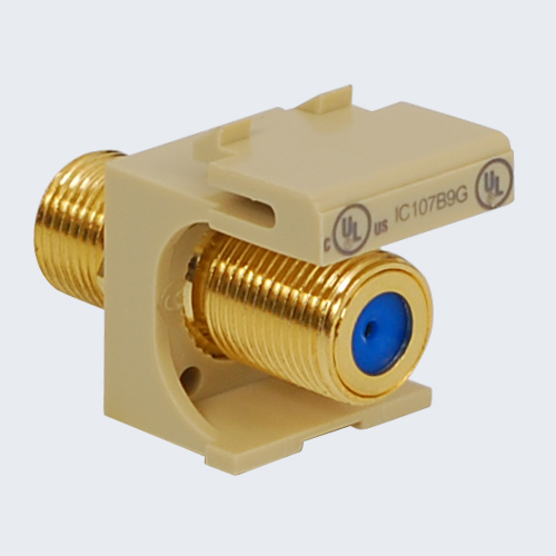 F-Type Modular Jack with 3 GHz Gold Plated Connector in HD Style