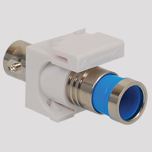 BNC Compression Modular Jack for 75 Ohm with Nickel Plated Connector in HD Style