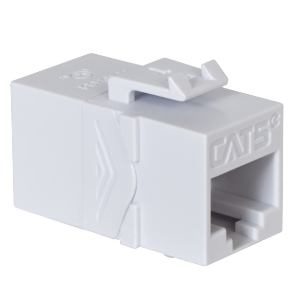 CAT5e RJ45 Keystone Coupler HD Style IC107C5EWH