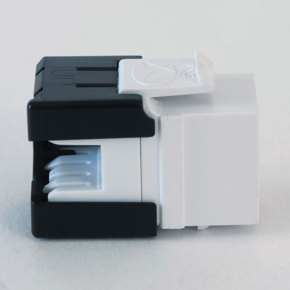 ICC CAT6A RJ45 Keystone Coupler for HD Style Black