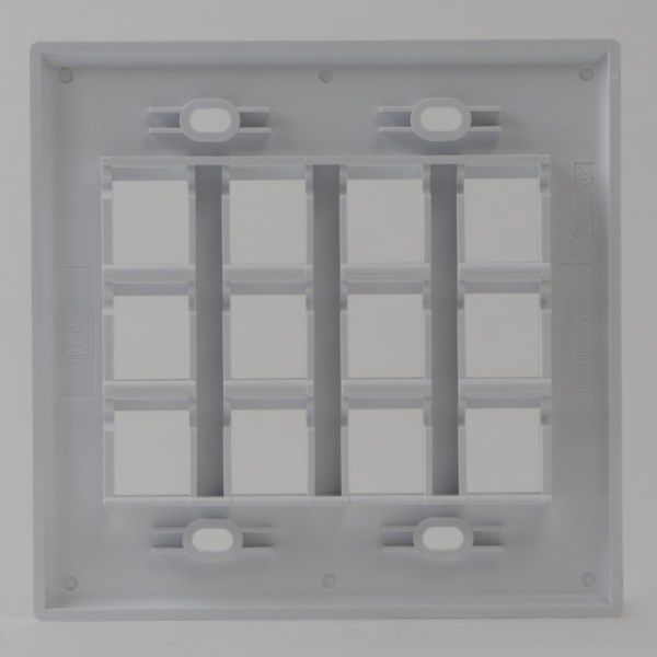 Classic Faceplate 12 Ports Double Gang Back IC107F12WH