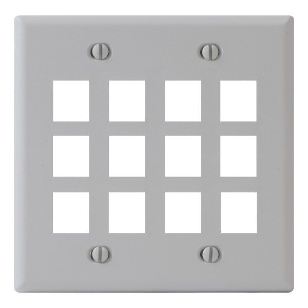 Classic Faceplate 12 Ports Double Gang IC107F12WH