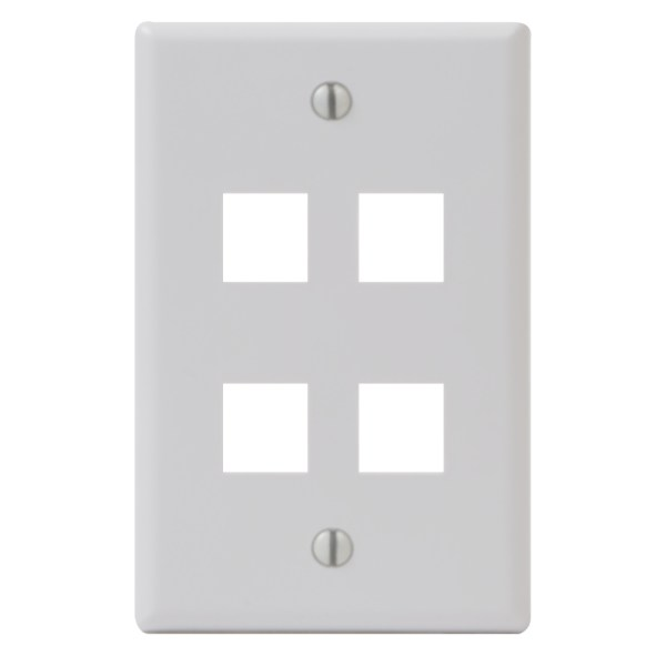 Classic Faceplate 4 Ports Single Gang IC107F04WH