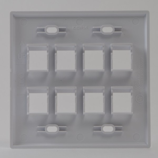 Classic Faceplate 9-Ports Triple Gang Back IC107FT9WH