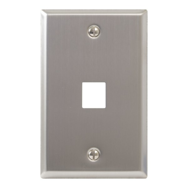 Classic Stainless Steel Faceplate 1 Port IC107SF1SS