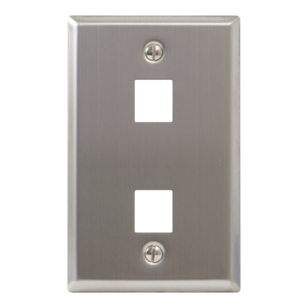 Classic Stainless Steel Faceplate 2 Port IC107SF2SS