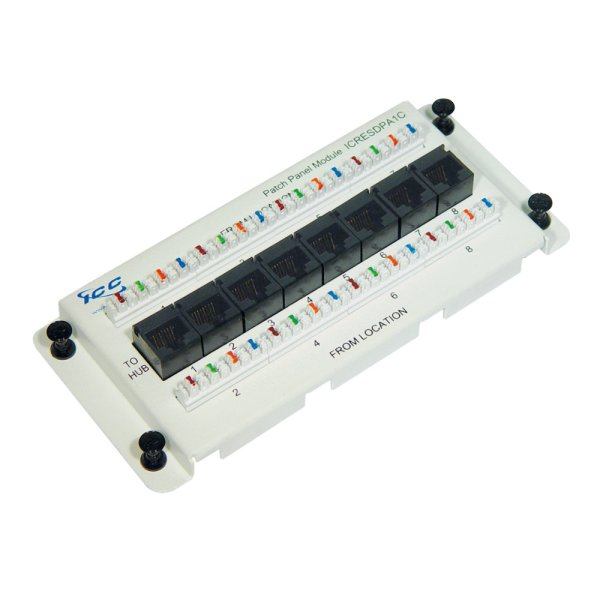 Residential Data Module, CAT 5e with 8 Ports ICRESDPA1C