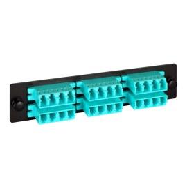 LGX Adapter Panel 6 Quad LC Aqua ICFOPL161G