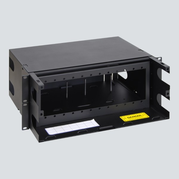 LGX Fiber Optic Rack Mount Enclosure 12 Panels 4 RMS Overhead No Back Cover ICFORET4RM