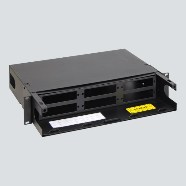 LGX Fiber Optic Rack mount Enclosure 6 Panels 2 RMS Overhead Back Cover ICFORE62RM