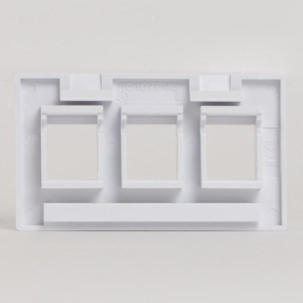 Modular Furniture Faceplate 3 Port Back IC107FM3WH