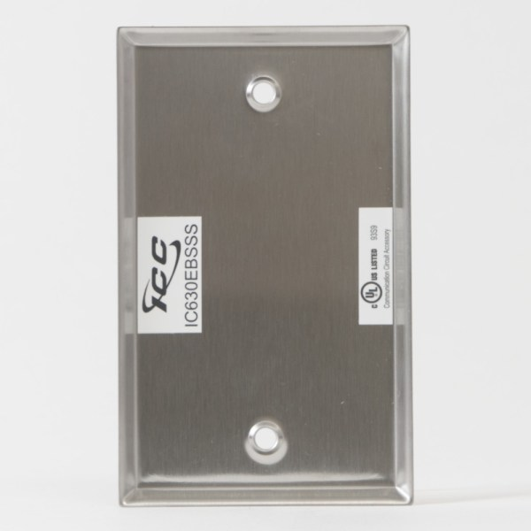 Stainless Steel Faceplate Blank Single Gang Back IC630EBSSS